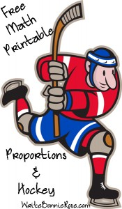 Free Math Printable Proportions and Hockey
