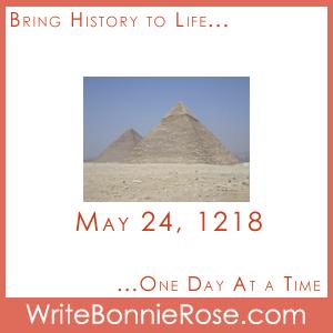 Timeline worksheet May 24, 1218, Crusades