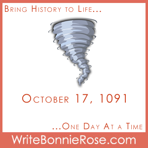 Timeline worksheet October 17, 1091 London Tornado