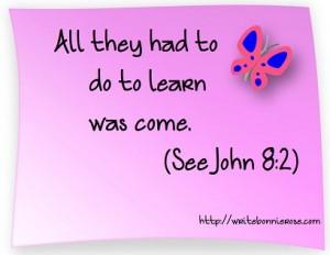 John 8:2