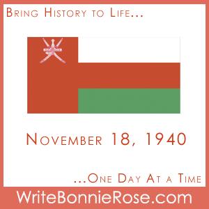 Timeline Worksheet, November 18, 1940, Oman