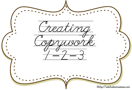 How to Write for Homeschoolers: Creating Copywork 1-2-3