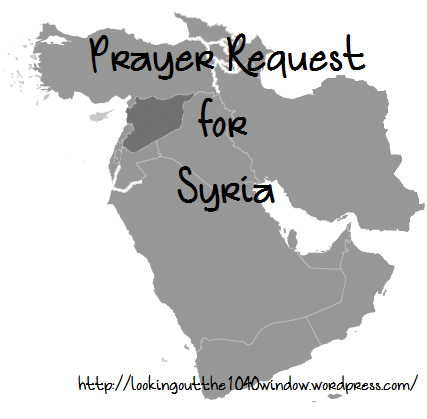 Prayer Request for Syria