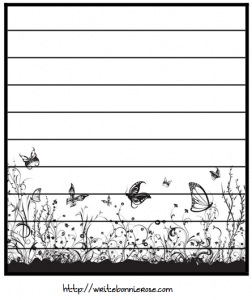 How to Write for Homeschoolers Lapbooking Basics Lined Paper Template