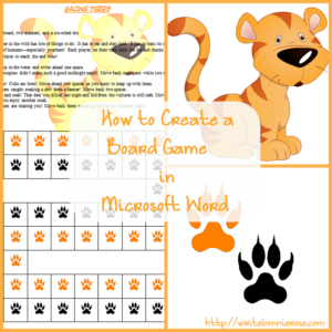 How to Write for Homeschoolers - How to Create a Board Game in Microsoft Word