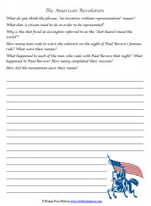 American Revolution notebooking image