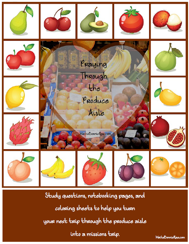 Praying Through the Produce Aisle missions freebie