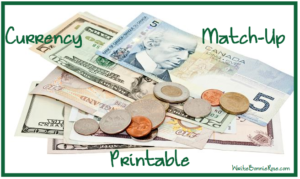 Currency Match-Up Printable