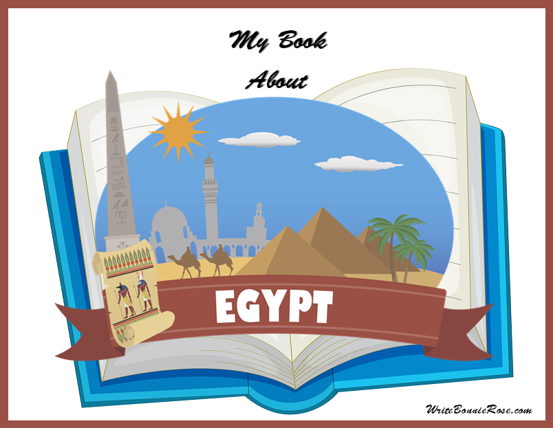 My Book About Egypt Geography Copywork