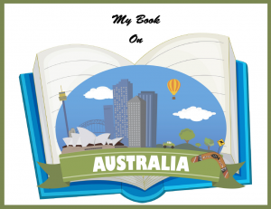 My Book on Australia - print copywork and handwriting practice, geography, and more