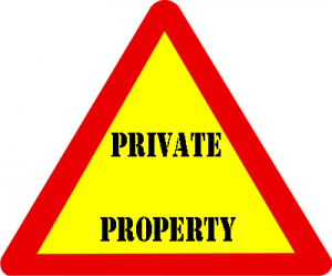 Fun Activities for Kids on Road Trips - Private Property Sign