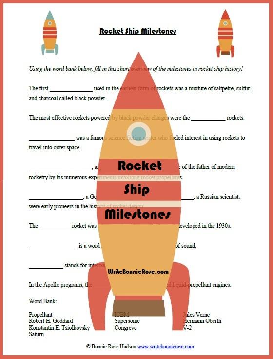 timeline worksheet may 5 1961 rocket ship fill in