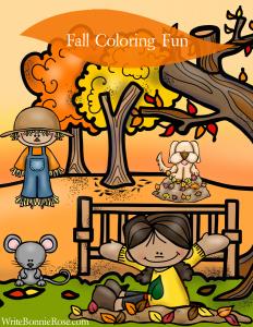 WriteBonnieRose Fall Coloring Fun