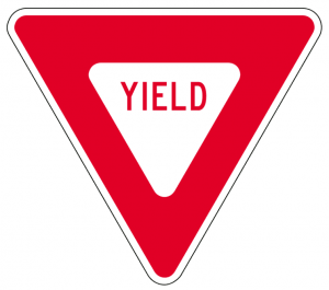 Fun Activities for Kids on Road Trips - Yield sign