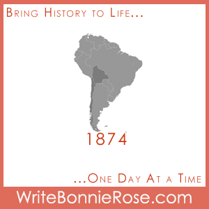 Timeline worksheet, 1874, Bolivia and Chile