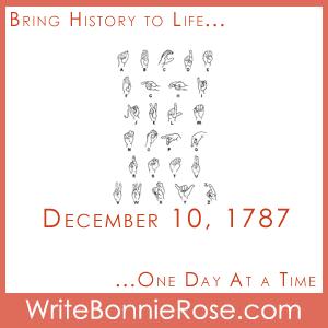 Timeline worksheet December 10, 1787 Thomas Hopkins Gallaudet