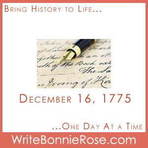 Timeline worksheet December 16, 1775, Jane Austen