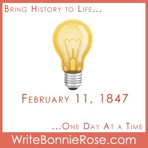 Timeline worksheet, February 11, 1847, Thomas Alva Edison