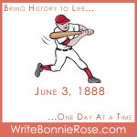 Timeline worksheet June 3, 1888, Casey at the Bat