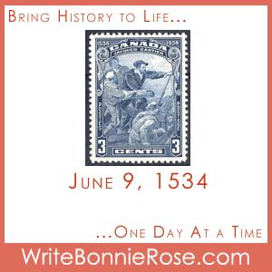 Timeline worksheet June 9, 1534 Jacques Cartier