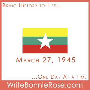 Timeline worksheet, March 27, 1945, Myanmar (Burma) Resistance Day