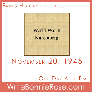 Timeline Worksheet: November 20, 1945, Nuremberg