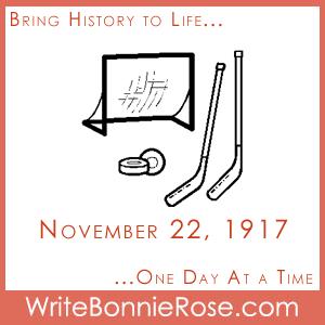 Timeline worksheet, November 22, 1917, NHL