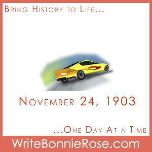 Timeline worksheet November 24, 1903, Clyde Coleman automotive invention