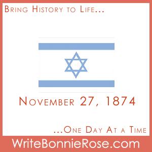 Timeline worksheet November 27, 1874, Chiam Weizmann