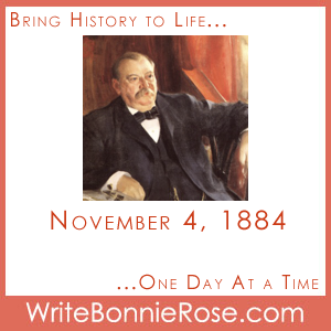 Timeline worksheet, November 4, 1884, Grover Cleveland Elected President