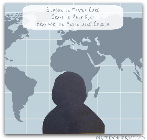 Silouette Prayer Card Children's Craft