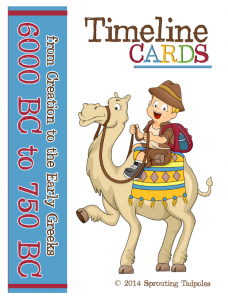 Timeline Cards from Sprouting Tadpoles-A Review