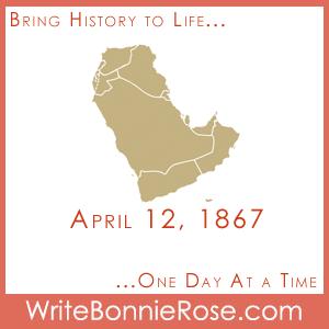 Timeline worksheet April 12, 1867, Samuel Zwemer Missionary to Arabia