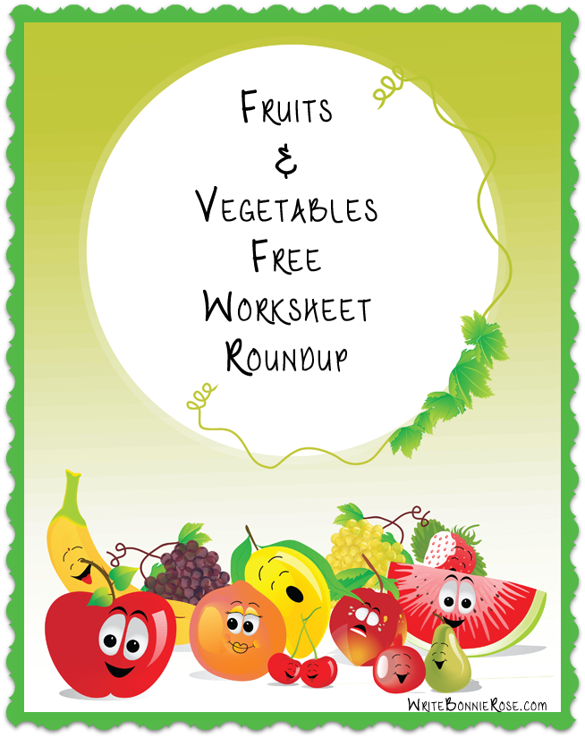 Worksheets for Kids - Fruits and Vegetables Roundup