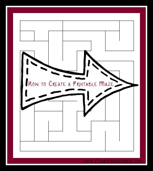 How to Create a Maze Printable