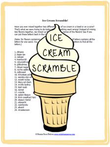 Ice Cream Scramble