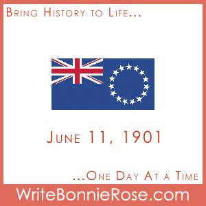 Timeline worksheet June 11, 1901 Cook Islands