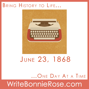 June 23, 1868, Typewriter