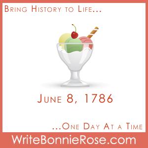 June 8, 1786, Ice Cream NYC