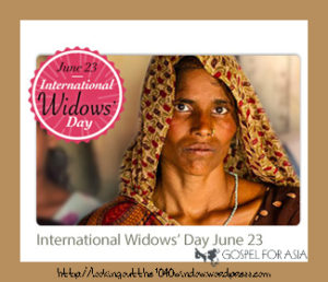 I is for International Widow's Day
