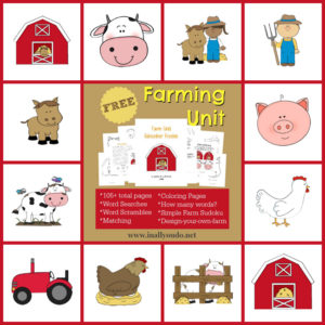 Free Farm printable pack