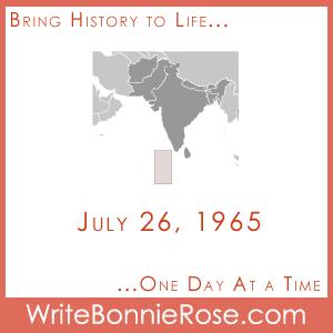 July 26, 1965, Maldives
