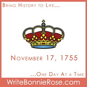 Timeline Worksheet, November 17, 1755, Louis XVIII of France