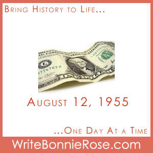 Timeline Worksheet: August 12, 1955, Minimum Wage and Math Copywork