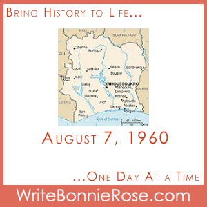 Timeline Worksheet August 7, 1960, Cote D'Ivoire