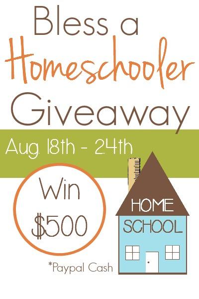 Bless a Homeschooler Giveaway 400x600