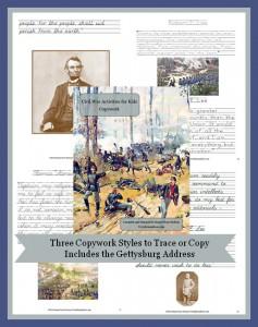 Civil War Activities for Kids – Copywork