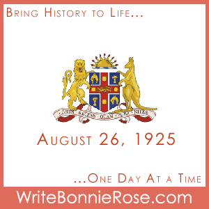 Timeline Worksheet: August 26, 1925, Australia First and a Biblical Firsts Quiz