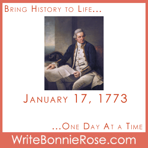 Timeline Worksheet, January 17, 1773, Captain James Cook and Winter Sports Scramble