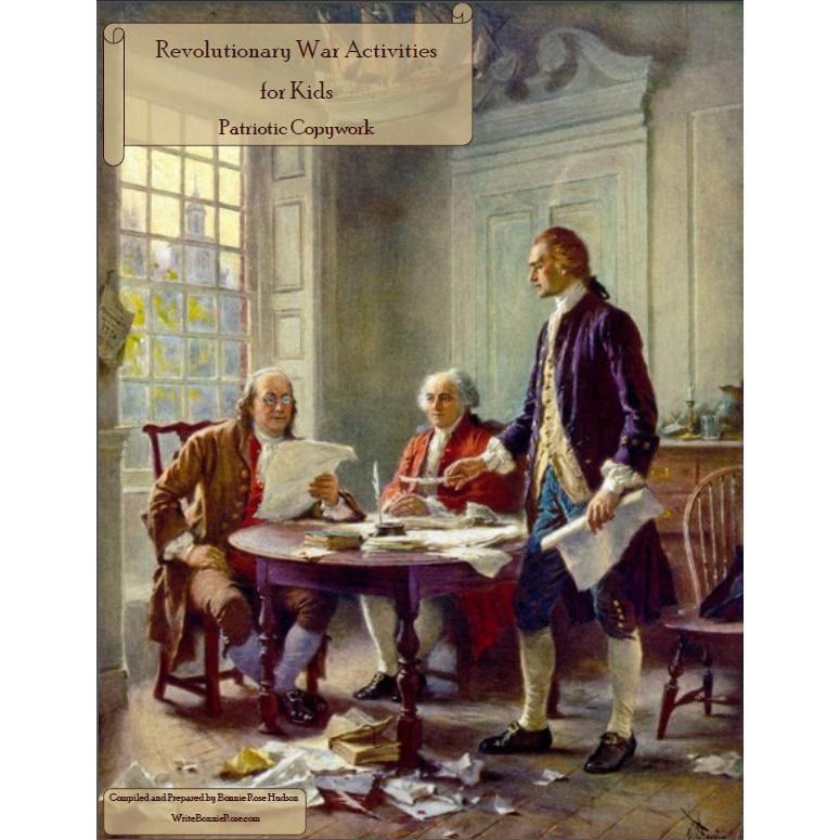 Revolutionary War Activities for Kids: Print Copywork (e-book)